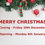 2019 Christmas Closing Times