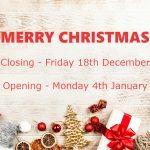 2020 Christmas Closing Times